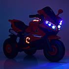 Детский мотоцикл на надувных колесах M 4216AL-4 синий, фото 2