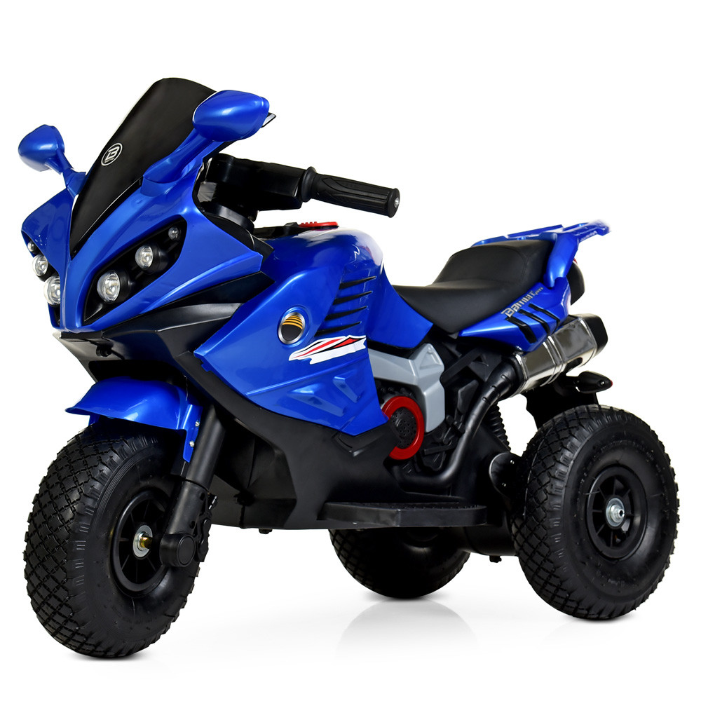 Детский мотоцикл на надувных колесах M 4216AL-4 синий