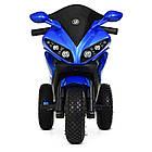 Детский мотоцикл на надувных колесах M 4216AL-4 синий, фото 3
