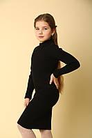 Платье резинка, черное