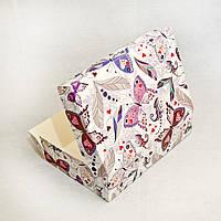 Коробка для эклеров, зефира, печенья и десертов 230х150х60 мм, БАБОЧКА