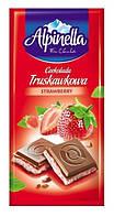 Alpinella Молочный Шоколад с Клубничным вкусом