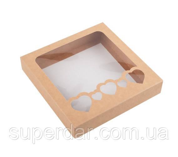 Коробка для пряников 200х190х30 мм., крафт