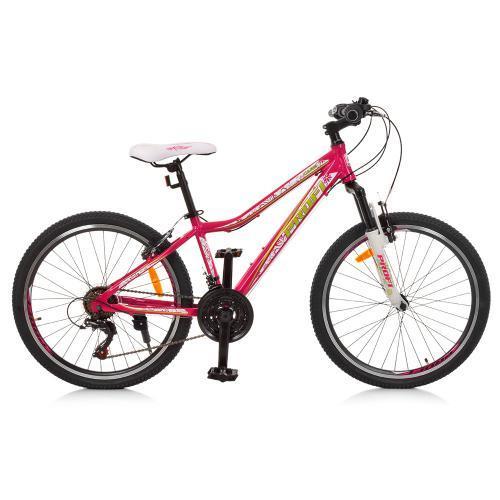 Розовый спортивный велосипед Profi G24CARE A24.1 размер колес 24 дюймов