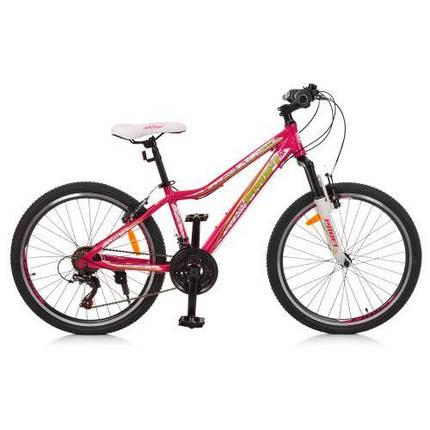 Розовый спортивный велосипед Profi G24CARE A24.1 размер колес 24 дюймов, фото 2