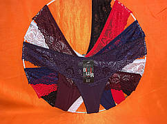 Бікіні мікрофібра з мереживом розмір 46-50. один колір в упаковці
