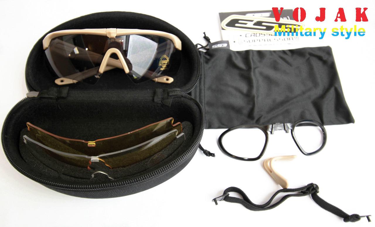 Тактические очки ESS Crossbow 3 линзы (Coyote)