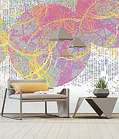 Дизайнерское структурное панно Color Dots в стиле авангард 155 см х 250 см