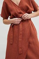 Платье льняное женское на запах, размер ХС-10ХХЛ, цвета на выбор, фото 1