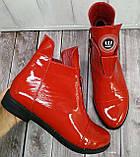 Ботинки демисезонные на низком ходу из натуральной лакированной кожи от производителя модель НИ1243-2, фото 2