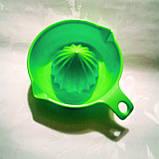 Соковыжималка цитрусовых ручная зеленая 200 мл, фото 2