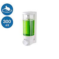 Диспенсер дозатор мыла пеной 300 мл кнопочный наливной Rixo Lungo BPS006W прочный ABS-пластик настенный, фото 1