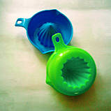 Соковыжималка цитрусовых ручная зеленая 200 мл, фото 6