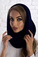 Элегантный теплый шарф хомут для зимы