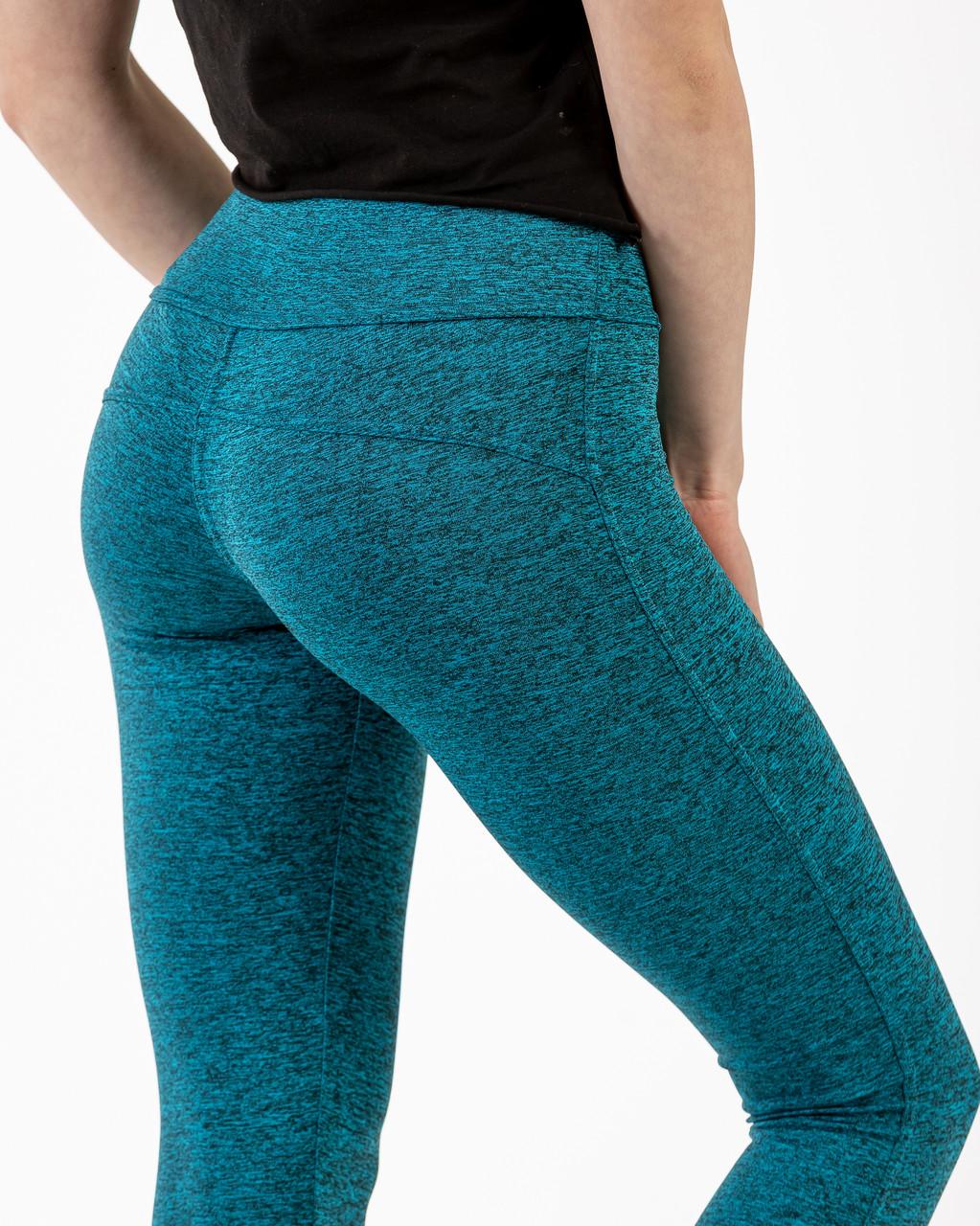 Лосины женские спортивные ластик зелёные №303Z