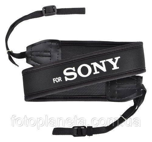 Ремень нашейный плечевой для фотоаппаратов Sony с неопрена черный