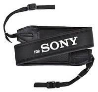 Ремень нашейный плечевой для фотоаппаратов Sony с неопрена черный, фото 1
