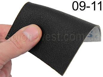 Авто кожзам, черный на тканевой основе 09-11 ширина 1.60м