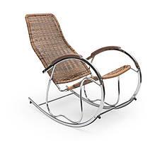 Крісло-гойдалка BEN коричневий (Halmar)