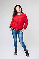 Женская весенняя осенняя курточка бомбер в размере 40,42,44,46,48,50
