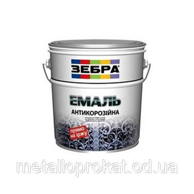 Краска эмаль антикорроз чёрная Зебра 3 в 1 (0,75л)