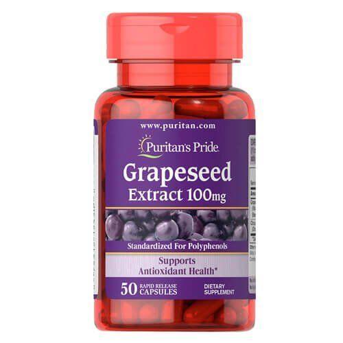 Антиоксидант Puritan's Pride Grapeseed Extract 100 мг (50 капс)
