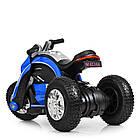 Детский мотоцикл Bамві на надувных колесах M 4134A-4 синий, фото 6