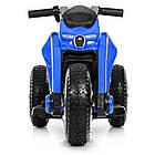 Детский мотоцикл Bамві на надувных колесах M 4134A-4 синий, фото 3