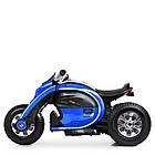 Детский мотоцикл Bамві на надувных колесах M 4134A-4 синий, фото 4