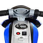 Детский мотоцикл Bамві на надувных колесах M 4134A-4 синий, фото 5