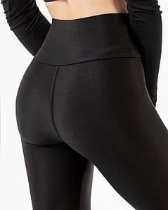 Лосины женские спортивные черные бифлекс №201