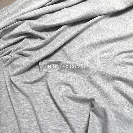 Стрейч кулир пенье светло-серый, ширина 180см, фото 2