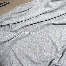 Стрейч кулир пенье светло-серый, ширина 180см, фото 3