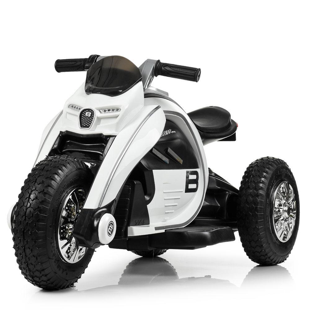 Детский мотоцикл Bамві на надувных колесах M 4134A-1 белый