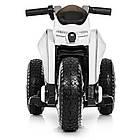 Детский мотоцикл Bамві на надувных колесах M 4134A-1 белый, фото 3