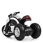 Детский мотоцикл Bамві на надувных колесах M 4134A-1 белый, фото 5