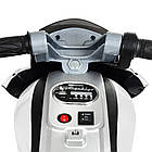 Детский мотоцикл Bамві на надувных колесах M 4134A-1 белый, фото 6