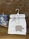 Плед для новорожденного Carter's белый Слоненок, мягкое теплое плюшевое одеяло, фото 3