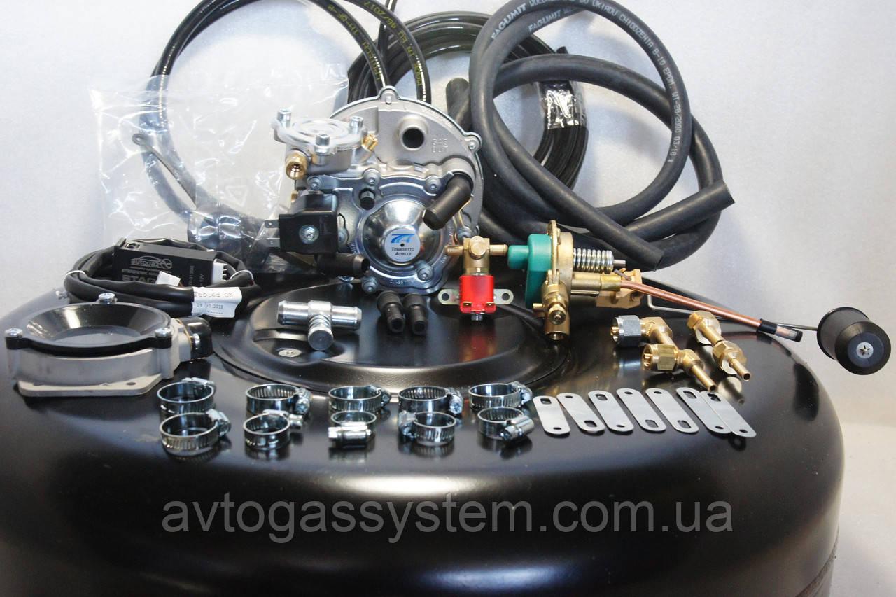 Комплект ГБО 2 поколения Tomasetto карбюратор солекс с баллоном под запаску