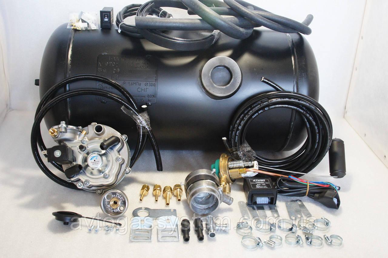 Комплект ГБО 2 поколения Tomasetto инжектор + 50л.