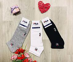 Носки спортивные демисезонные укороченные хлопок FILA Турция размер 41-45 ассорти