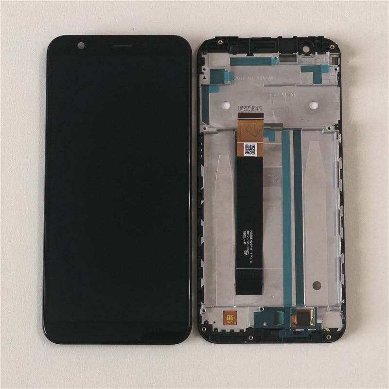 Дисплей для Asus ZB555KL ZenFone Max M1 модуль в сборе с тачскрином, черный, с рамкой