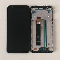 Дисплей модуль для Asus ZB555KL ZenFone Max M1 в зборі з тачскріном, чорний, з рамкою