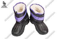 Детские зимние дутики фиолетовые ( Код : Полосатик)