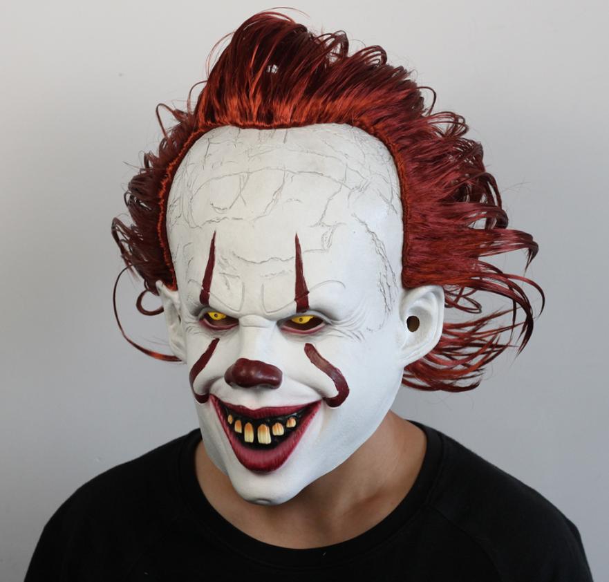 """Латексная маска Клоуна  Пеннивайз """"Оно"""" (IT) Стивена Кинга"""