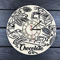 Концептуальные настенные часы из дерева «Шоколад», фото 1