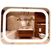 Зеркало в ванную с LED подсветкой подвесное 80х60