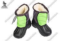 Детские зимние дутики зелёные ( Код : Шнурок)