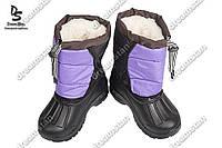 Детская зимние дутики фиолетовые ( Код : Шнурок)