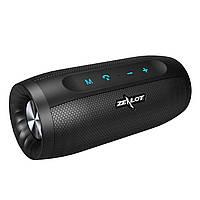 Колонка ZEALOT S16 Black Smart Hi-Fi Bluetooth 4.2 10W IPX 4 Power Bank микрофон 4000 мАч